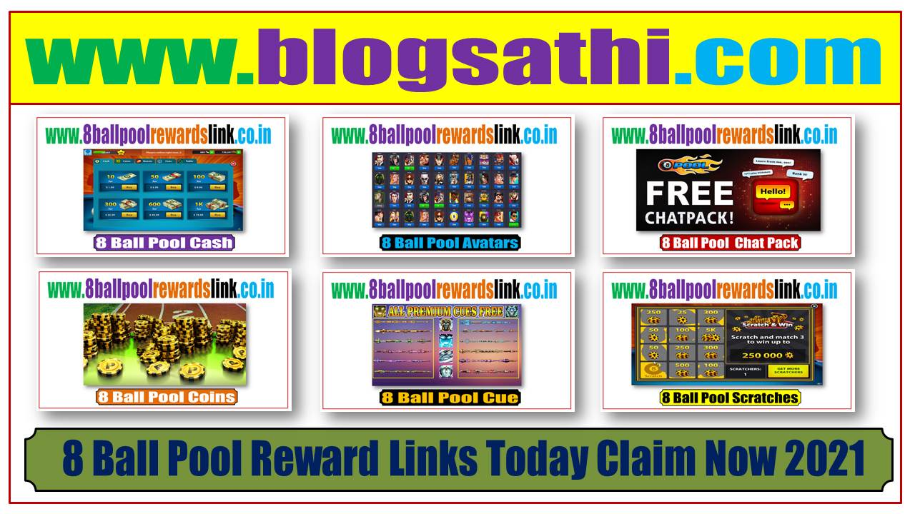 8 Ball Pool Reward Links Today Claim Now 2021